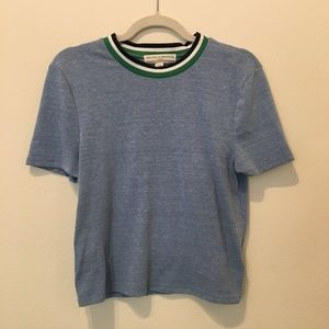 Urban Outfitters Blue Crop Top